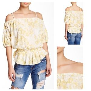 Free People Cold Shoulder Peasant Blouse
